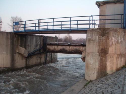 Řeka Ostravice ve Frýdku-Místku