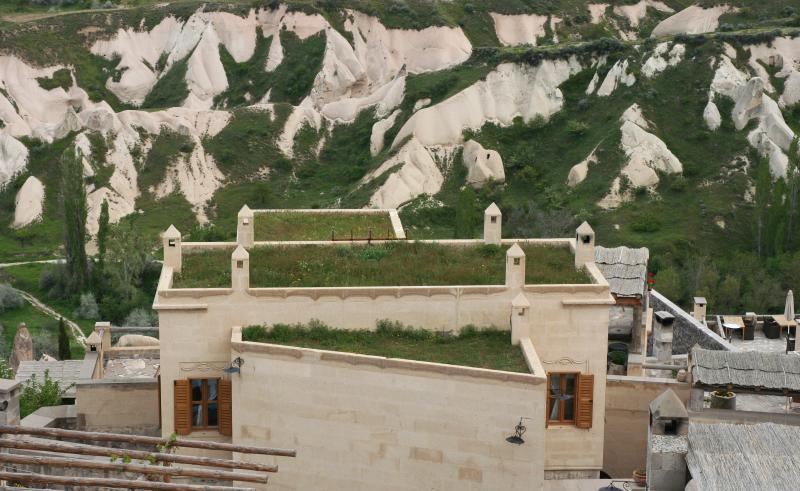 Zelená střecha, Kappadokie Turecko