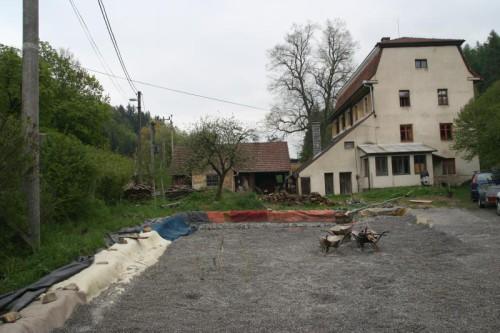 Výstavba kořenové čistírny u Horního mlýna ve Křtinách