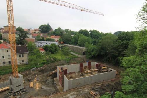 Budování dešťové nádrže v Jihlavě