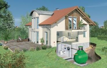 Podzemní plastová nádrž na srážkovou vodu. Ilustrační obrázek. Zdroj: www.voda.tzb-info.cz